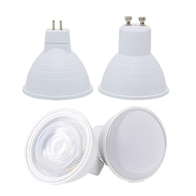 Светодиодная лампа GU10 MR16, точечный светильник, 12 В, 110 В, 220 В, естесветильник свет, естественный белый, 4000k, холодный белый, 6500k, теплый белый, ...