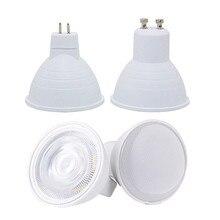 GU10 MR16 Led Spotlightหลอดไฟ 12V 110V 220Vแสงธรรมชาติสีขาว 4000K Coolสีขาว 6500K Warm White 3000K Dimmable Cobโคมไฟ