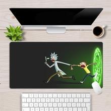 Пользовательские Рик и Морти аниме Мышь геймер большой коврик для мыши мягкий для долговечной игры Мышь коврик нескользящее резиновое покрытие компьютерный стол коврик
