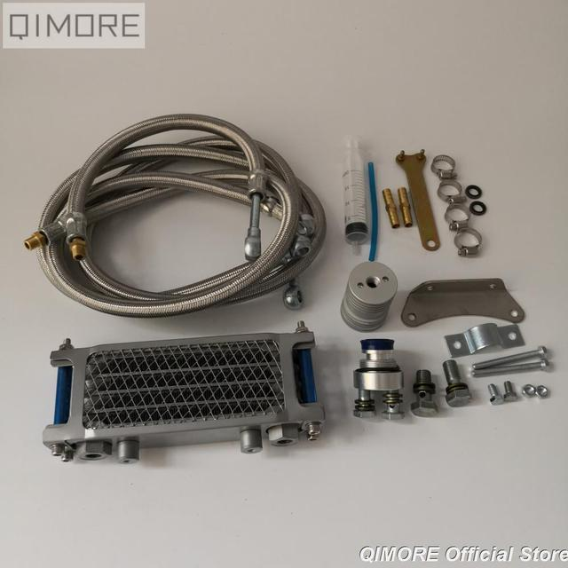 Комплект масляного радиатора/комплект масляного радиатора для 4 тактного китайского скутера GY6 50 125 150 139QMB 152QMI 157QMJ