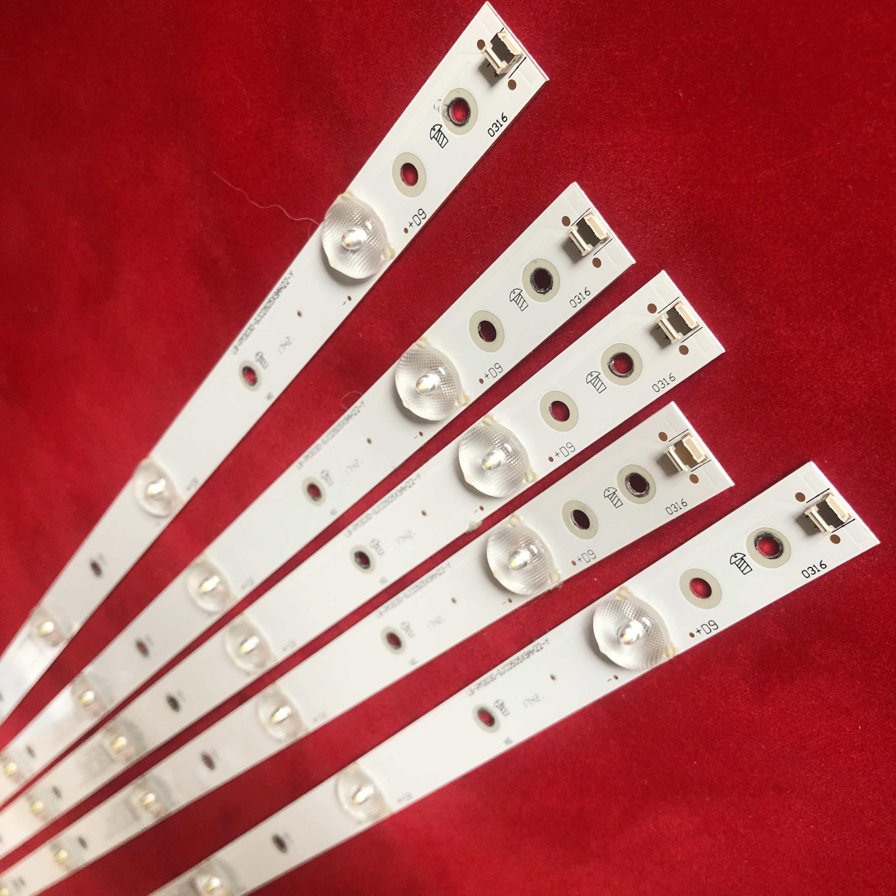 1 set = 5 pièces AMPOULES LED LB-PM3030-GJCD505X9AH22-Y POUR philips 50pug6102 / 78 50PUF6102/T3 9LEDS 2