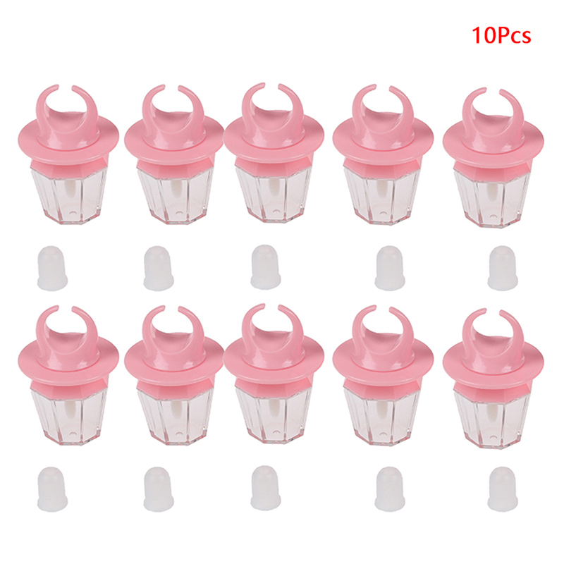 8ml Pink Diamond Ring Shape Empty Lip Gloss Bottle Lipgloss Tube Pink Lip Tube Lips Balm Bottle Wand Brush Container 5/10pcs image