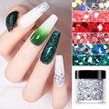 Золотистые и Серебристые Блестки для ногтей серии Dream Color стразы в форме блесток для ногтей пигмент флаки пыль 3D украшение для ногтей