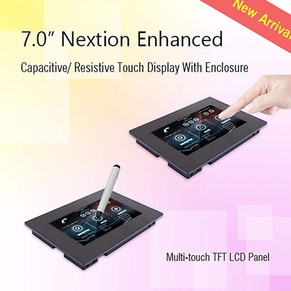 7,0 дюйма Nextion Улучшенный резистивный NX8048K070 011R USART HMI lcd сенсорный экран с корпусом для Arduino Raspberry - 2