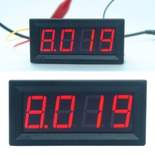0-9.999A(10A) 4-digits bit Ammeter Current Panel Meter Gauge 0.56inch Red LED