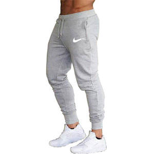 Sportswear Sweatpants Jogger Jogging-Pants Men Running Mens GYM Solid