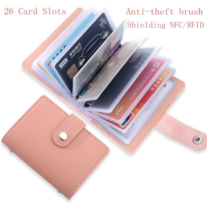 26 Card Slots Celebrity Men Women Credit Card Wallet Fashion Cute Cards Holder Candy Color Korean Wallet For Cards Cardholder