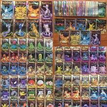 50 Pçs/set Aleatória Brilho Cartões de Memória Flash Cartão De Pokemon Mewtwo Cartão Coleção Eevee Psyduck Pikachu Charizard Toy Kids Presente