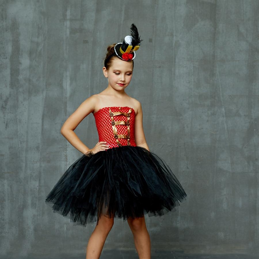 Girls Ringmaster Costume Circus Nutcracker Fancy Tutu Dress Kids Tulle Birthday Party Dress Girl Halloween Dress Up Clothes (3)