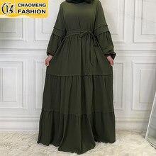 Robe Maxi à manches longues pour femmes musulmanes, Kaftan, vêtements islamiques, arabes, turquie, Hiver, 2021