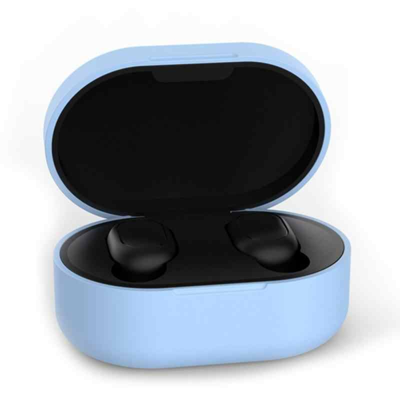 Tai Nghe Bluetooth Chụp Tai Túi Cho Xiaomi Redmi Airdots Chống Bụi Ốp Lưng Silicon Tai Nghe Bảo Vệ Sạc Bền Tai Nghe Ốp Lưng
