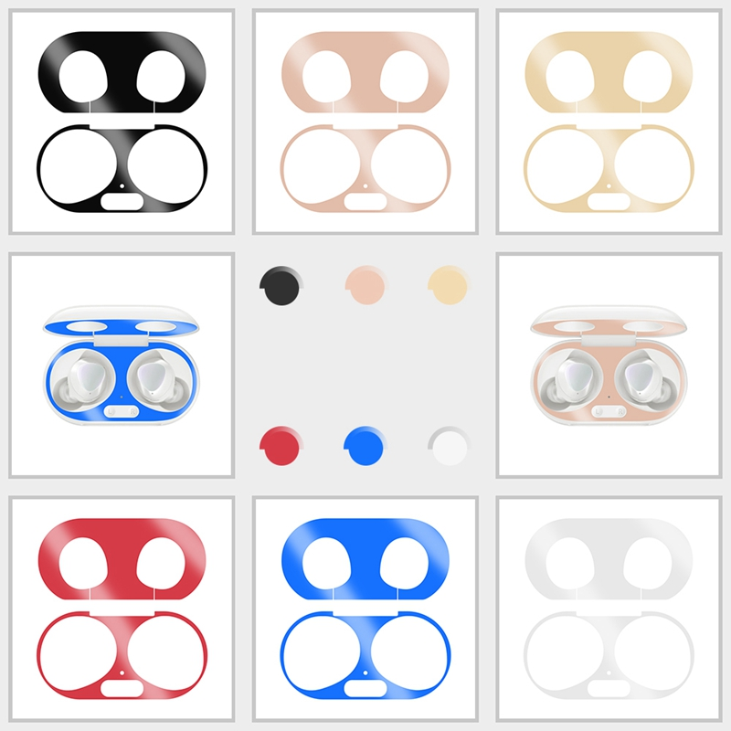 Inside Dust-proof Guard For Samsung Galaxy Buds+ Sticker Charging Box Skin Sticker For Samsung Buds Plus Earphone Metal Stickers