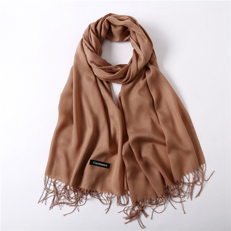 Women Cashmere   Scarf   Fashion thin solid shawls and   wraps   lady pashmina bandana female hijab winter long foulard head   scarves