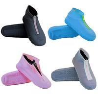 Silicone à prova dwaterproof água capa de sapato botas de chuva com zíper capa de sapato capa de sapato de silicone reutilizável ao ar livre produto caminhadas montanhismo
