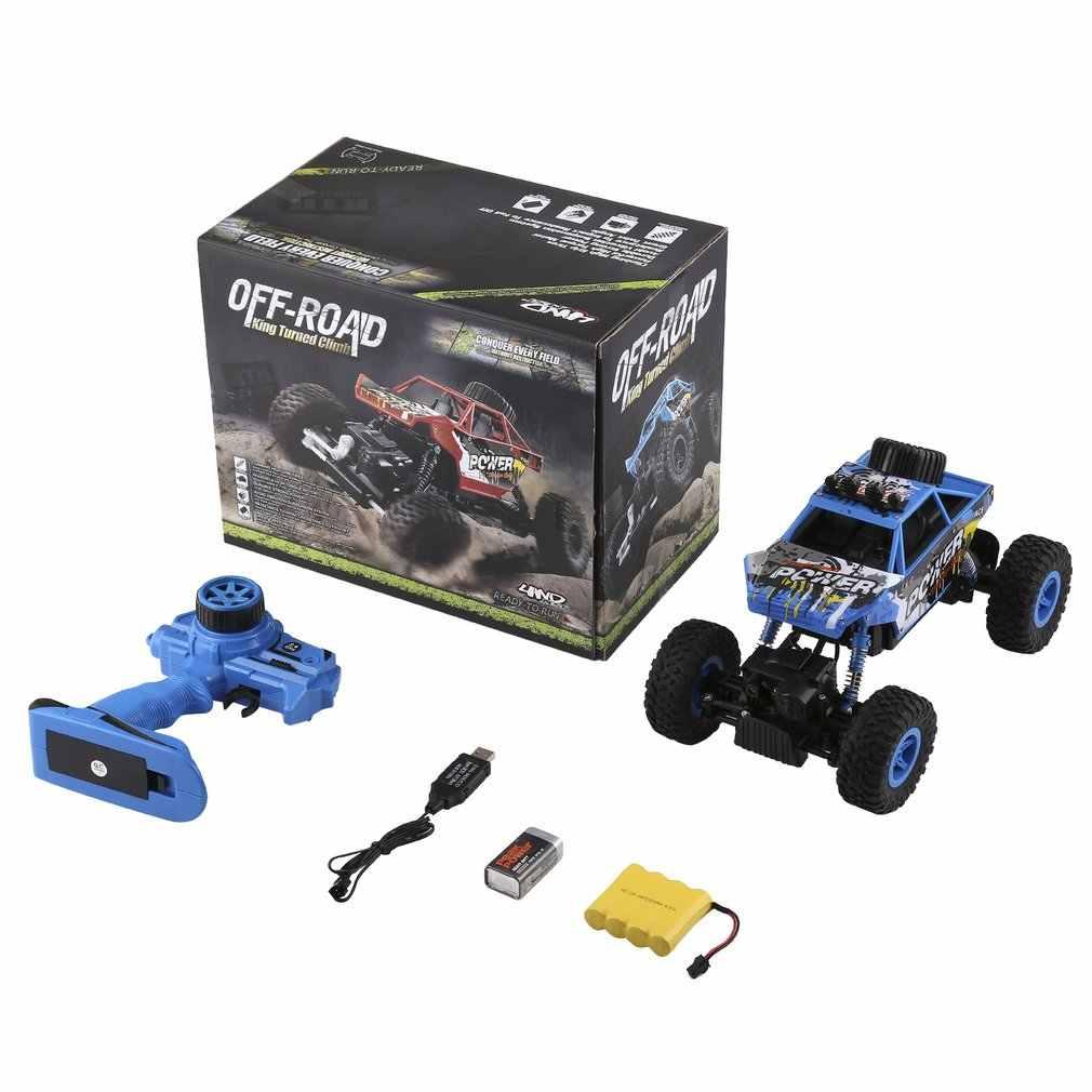 OCDAY Boys RC coches de Control remoto 2,4 GHz 4WD Rock orugas de escalada coche de alta velocidad Pie Grande de carreras modelo Off -Coche de juguete de carretera