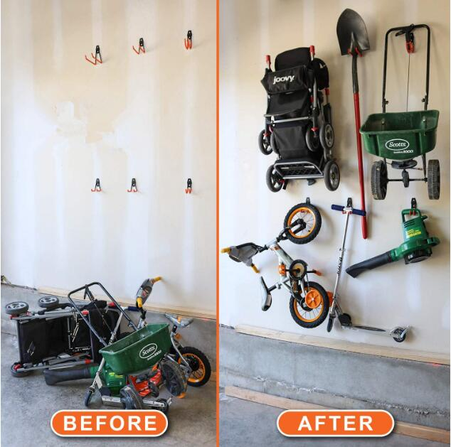 conjunto garagem jardim galpao ferramenta de armazenamento 05