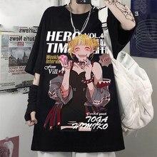 Meu herói academia harajuku gótico verão anime camiseta oversized impressão dos desenhos animados topos harry estilos camiseta kawaii mulher tshirts casuais