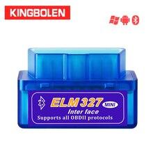 ELM327 Mini Bluetooth V2.1 OBD2 Giao Diện Tự Động Công Cụ Chẩn Đoán Elm 327 Mã Cho Android Mô Men Xoắn OBDII Adapter