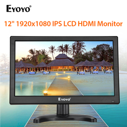 Eyoyo EM12K 12 1920X1080 Fhd Hdmi Ips Cctv Monitor Lcd-scherm Met Vga Bnc Usb Speaker Computer security Surveillance Display