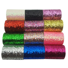2yard 375mm Chunky Glitter Ribbon Gold Sequin Shiny Hair bow Wedding Patry Decoration DIY Hairbows Accessories