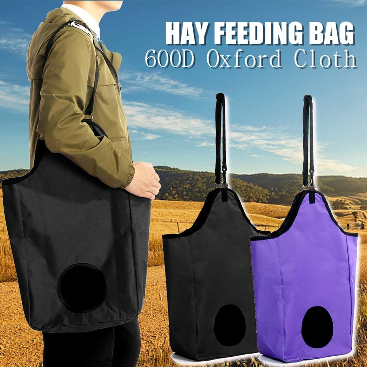 Waterproof Feeder-Pouch Hay-Bag Riding-Hay Horse-Feeding Portable 33x18x60cm Polyester For Camping Gear Outdoor