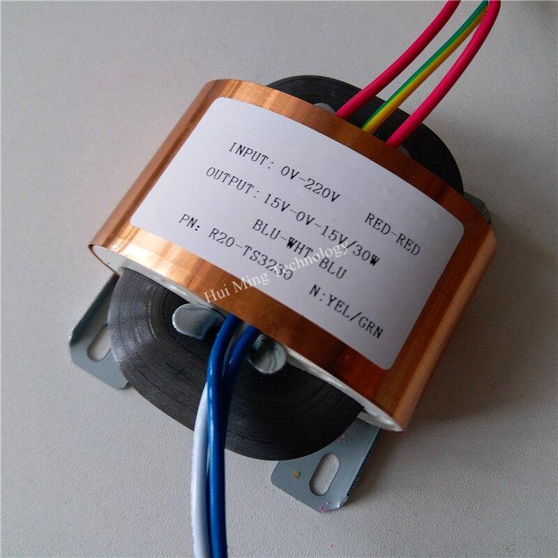 transformador feito sob encomenda duplo 15 v 30va do transformador 220 v do nucleo r do