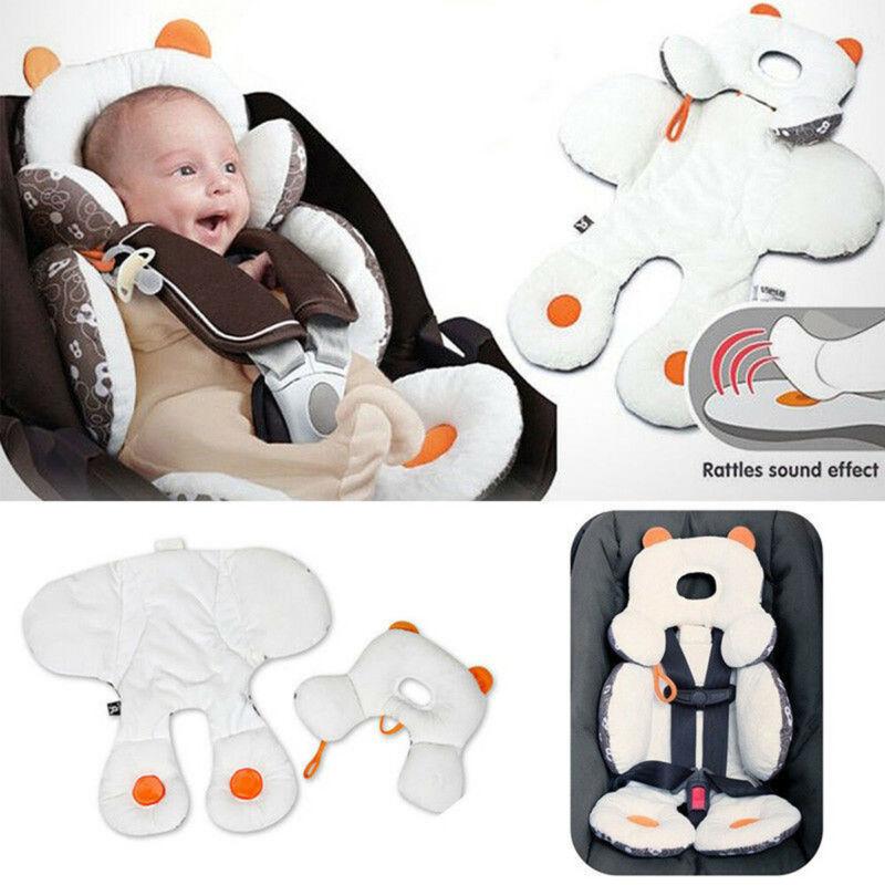 infant baby stroller car seat pillow cushion head body support pad pop mat soft newborn baby plush car seat cushion for 0 18m