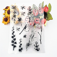 Fruit Tree Transparent Clear Silicone Stamp/Seal DIY scrapbooking/photo Album Decorative clear stamp sheets for Card Making Diy new fish tank transparent sticker clear silicone stamp seal for photo card making album sheets decoration supplies gift