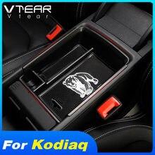 Vdéchirer boîte de rangement pour voiture Skoda kodiaql, support de conteneur, plateau central de rangement, accessoires de claquettes, décoration intérieure