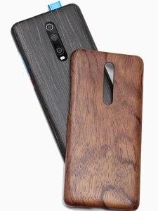 Image 3 - Naturalnie drewniane etui na telefon xiaomi 9T PRO, Redmi K20 Pro skrzynki pokrywa black ice drewno, orzech, palisander