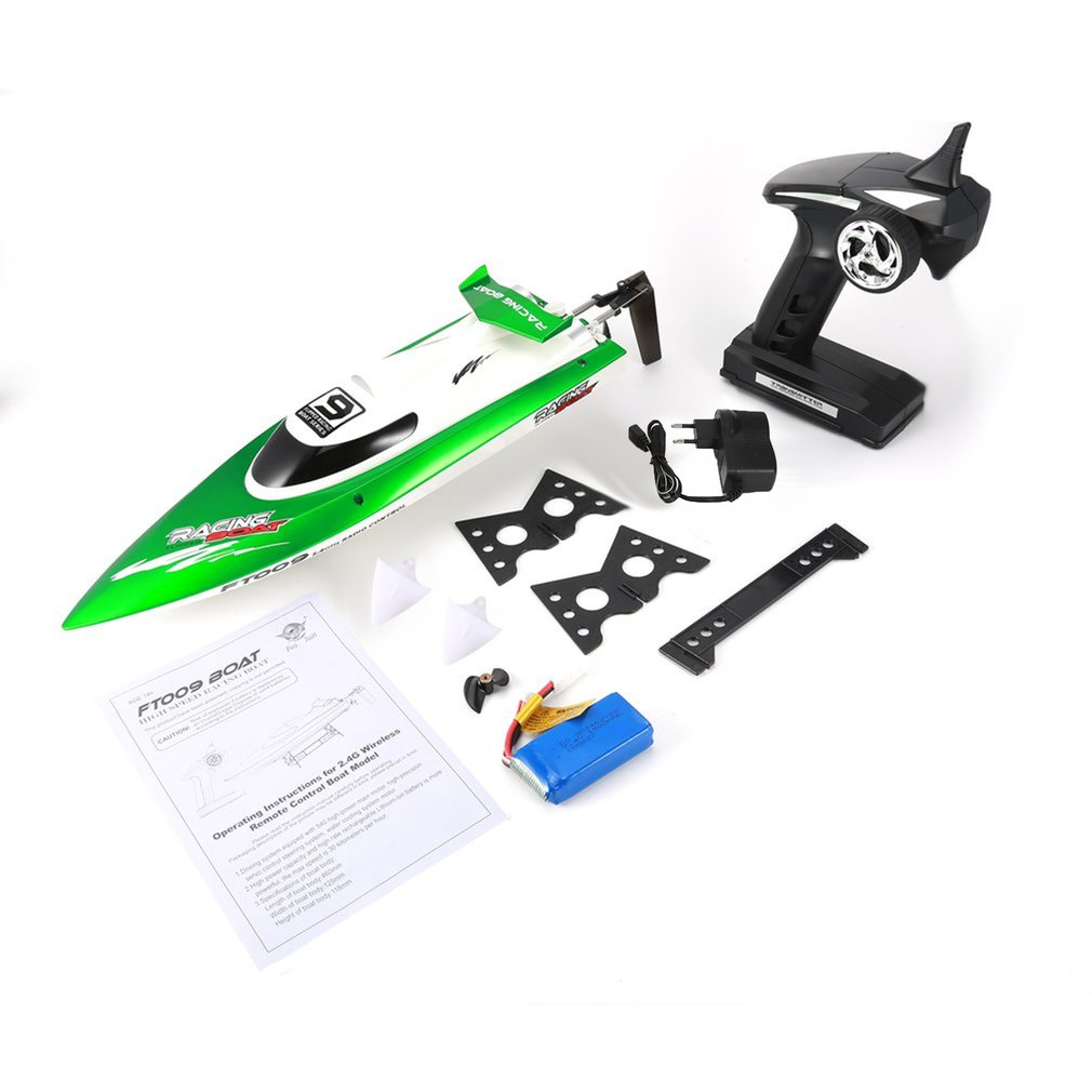 Feilun FT009 2.4G 4CH Water Cooling RC Racing Boat 30km/h Super Speed Electric RC Boat Toy Remote Control Boats