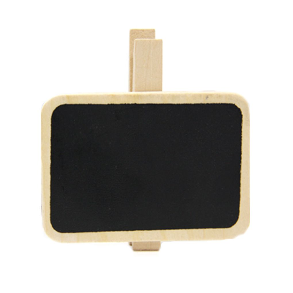 ZHUTING 10pcs Mini Chalkboards With Clip For Message Board Signs Weddings Parties