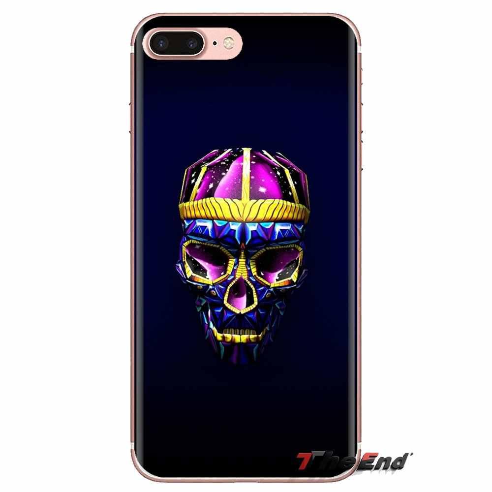 Fonds d'écran 3D crâne gratuit pour Mac pour Samsung Galaxy S2 S3 S4 S5 MINI S6 S7 edge S8 S9 Plus Note 2 3 4 5 8 Coque Fundas TPU