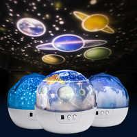 Ciel étoilé veilleuse planète magique projecteur terre univers lampe à LED coloré rotation clignotant étoile jouet enfants bébé cadeau de noël