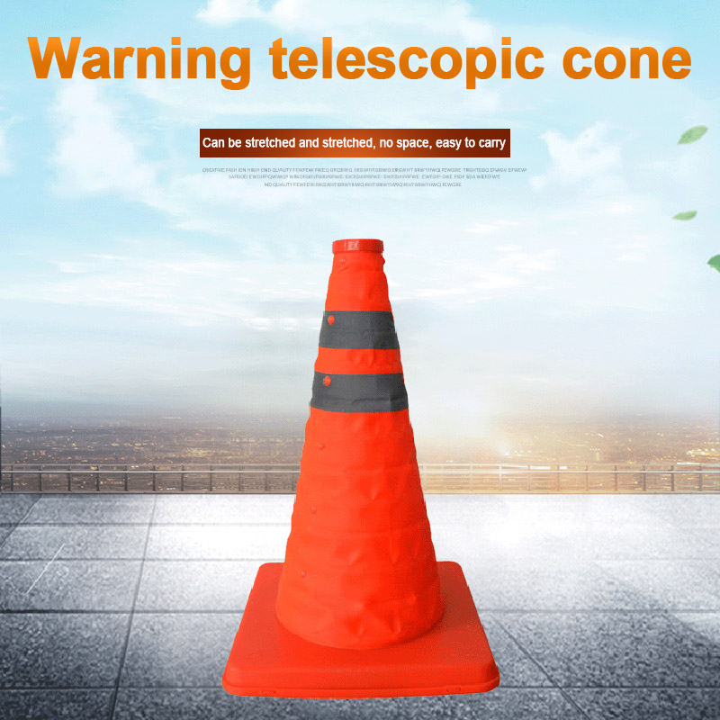 New Hot Reflective Traffic Cone Retractable Space-saving Portable Warning Sign Roadblock
