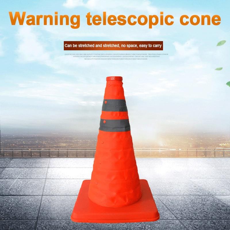 New Hot Reflective Traffic Cone Retractable Space-saving Portable Warning Sign Roadblock