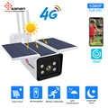 SANAN 1080P камера безопасности на солнечной батарее GSM 4G sim-карта наружный водонепроницаемый беспроводной ip-камера ночного видения встроенный а...