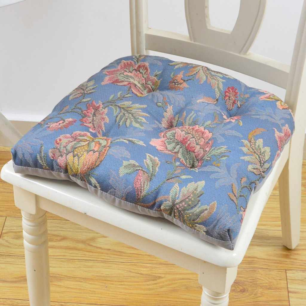 Picture of: 45cm Retro Office Cotton Seat Flower Sofa Dining Chair Cushion Bar Stool Pad Computer Office Chair Seat Cushion Antique Style Cushion Aliexpress
