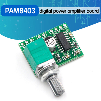 PAM8403 mini 5V digital amplifier board with switch potentiometer can be USB powered - discount item  5% OFF Portable Audio & Video