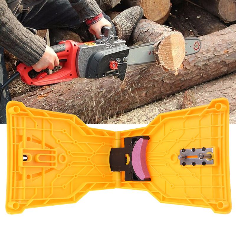 Chainsaw Teeth Sharpener Chainsaw Portable Durable Easy Power Sharp Bar-Mount Fast Grinding Chainsaw Chain Sharpener Tool