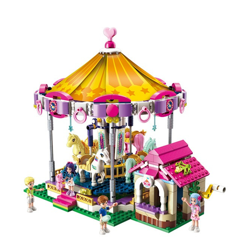 ENLIGHTEN Girls City Friends Princess Fantasy Carousel Colorful Holidays Building Blocks Sets Kids Toys Compatible in Blocks from Toys Hobbies