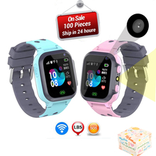 LIGE Smart Watch LBS Kid Watches Baby for Children SOS Call Location Finder Locator Tracker Anti Lost Watches+box