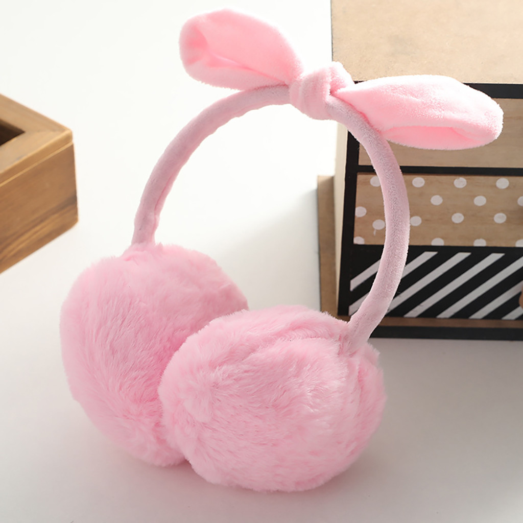 Earmuffs Women Girls Winter Ear Warm Cute Rabbit Ear Plush Warmth Earmuffs Ear Warmers For Woman