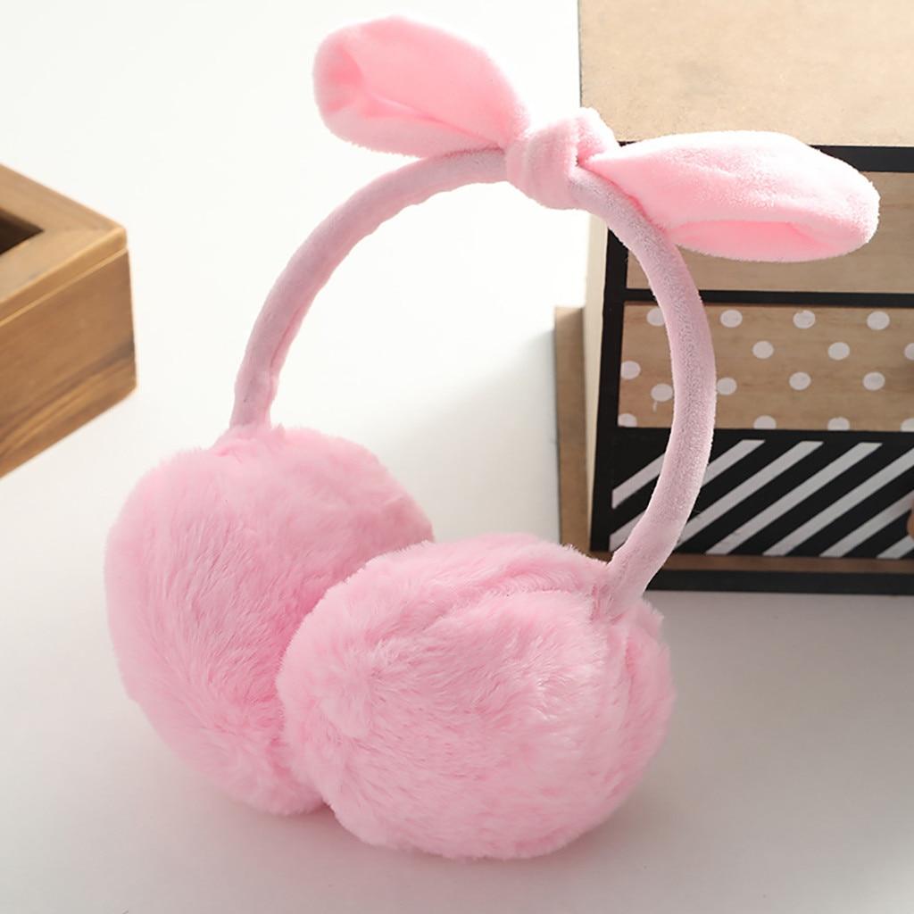 Earmuffs Women Girls Winter Ear Warm Cute Rabbit Ear Plush Warmth Earmuffs Ear Warmers For Woman