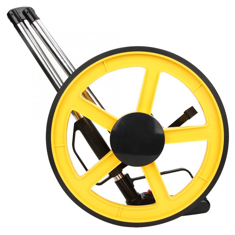 Rueda de medición de distancia mecánica 0 ~ 9999,9 m rodillo de medición manual redondo de alta calidad