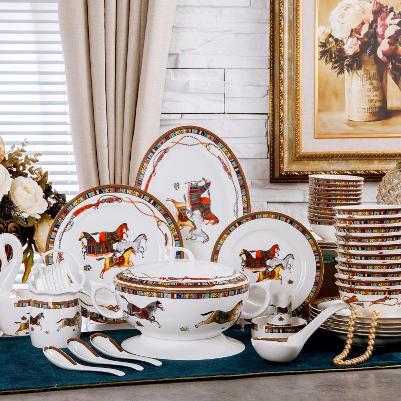 Une livraison directe assiettes de cuisine en céramique   Os porcelaine, ensembles de vaisselle en porcelaine, bols en porcelaine, assiettes et cadeaux ménagers, couverts service de table