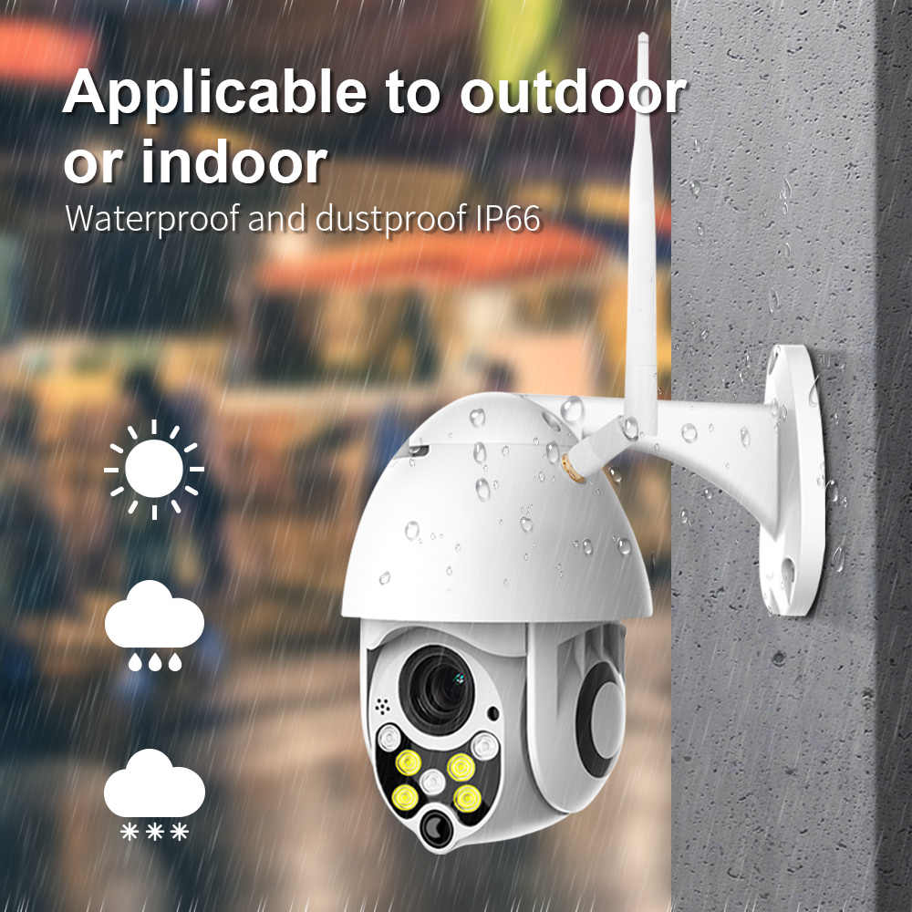 Jiansu Outdoor Ip Camera Wifi Caméra De Surveillance Extérieur Wifi Colorful Night Vision And Auto Tracking For Home Security Surveillance Cameras Aliexpress
