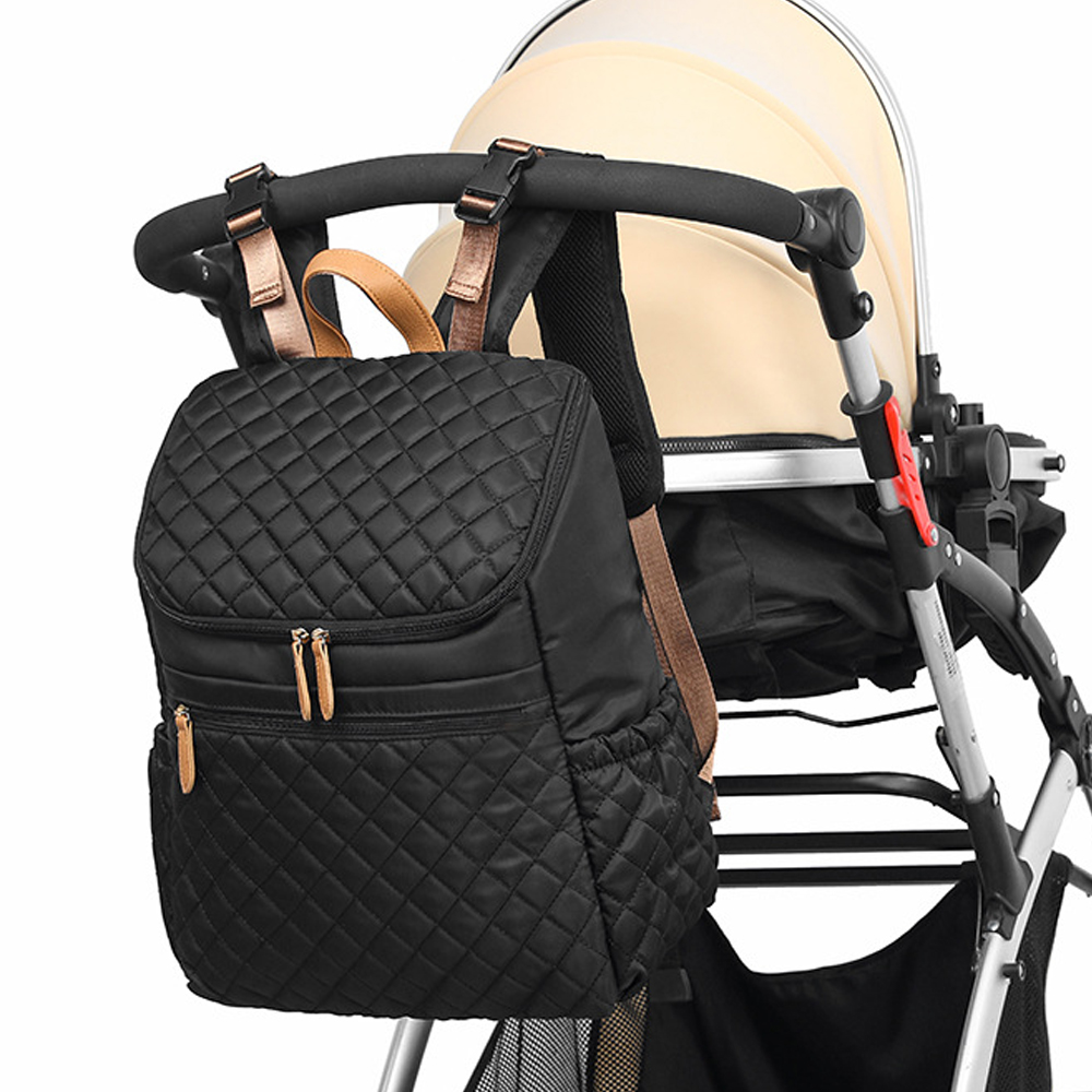 Baby Diaper Bag Backpack+Changing Pad+Stroller Straps