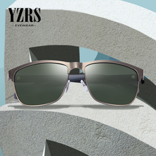 YZRS Brand Retro Sunglasses Men Polarized Driving Metal Black Shades Fishing Eyewear