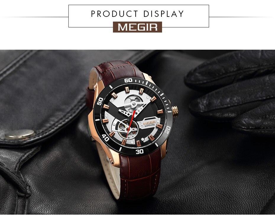 Hdc8e08c61c9c448daf62b2f68df4ecccj MEGIR Men Mechanical Wristwatches Leather Strap Automatic Mechanical